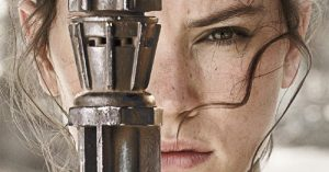 『スター・ウォーズ/最後のジェダイ』レイのアップ表情
