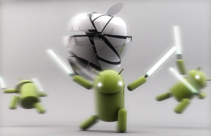 Appleを八つ裂きする「Bugdroid」たち