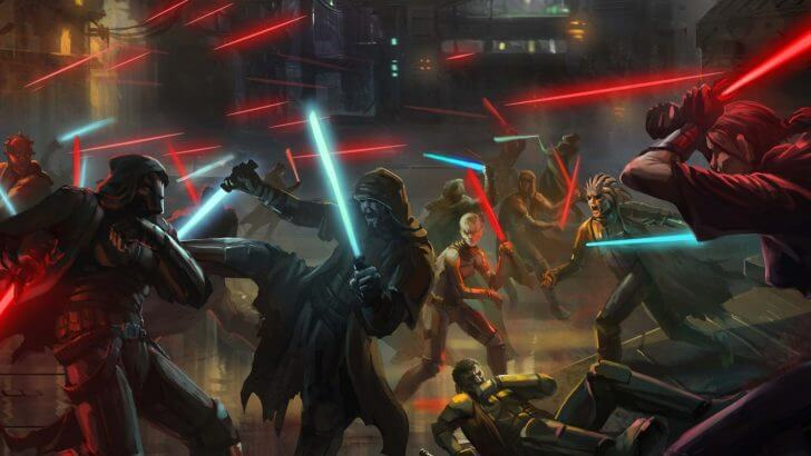 ジェダイと暗黒卿の大戦闘のイメージ