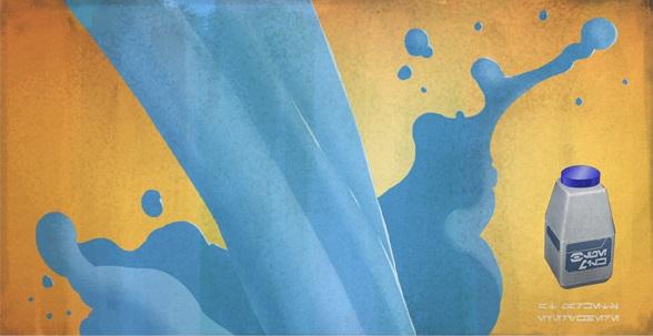 ブルーミルク(Blue_Milk)の広告ポスター